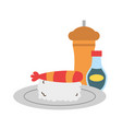 sushi pepper and sauce food vector image