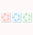 three round feather frame design vector image vector image