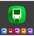 Train travel railway flat icon badge logo set vector image