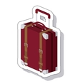 travel suitcase isolated icon vector image vector image