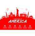 USA Travel vector image vector image