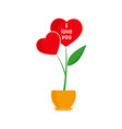valentines day flower hearts vector image vector image