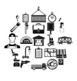 warehouses icons set simple style vector image vector image
