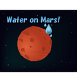 Water on Mars vector image