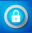 white open padlock icon isolated lock symbol vector image vector image