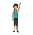 woman character people standing female image vector image