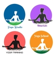 Yoga Logo and Emblem Set vector image vector image