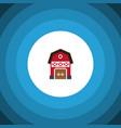 isolated warehouse flat icon storage vector image