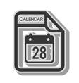 calendar format type vector image