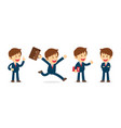 set of businessman working character design flat vector image