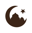 Star and crescent - symbol of Islam vector image