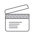 movie clapper line icon sign vector image