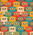 Seamless Vintage Pattern with Cute Owls vector image