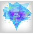 Abstract blue tones triangle explosion vector image vector image