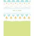 Abstract ikat triangles stripes vertical torn vector image vector image