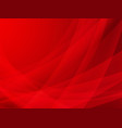 abstract red curve background design vector image vector image