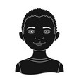 africanhuman race single icon in black style vector image vector image