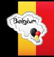 belgium independence day greeting card template vector image