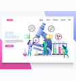 blood research website landing page design vector image vector image