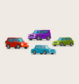 car vehicle icons transport parking dealership vector image