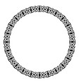 circular celtic ornament vector image