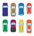 Collection of various isolated cars icons Car top vector image vector image
