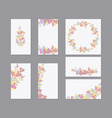 colorful greeting wedding invitation card vector image vector image