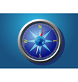 compass on a blue background vector image vector image