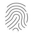 cryptographic signature thin line icon security vector image