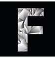 crystal letter F vector image