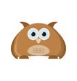 cute owl bird animal character vector image