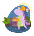 cute unicorn chef character holding freshly baked vector image vector image