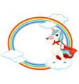 cute unicorn on sky vector image vector image