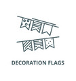 decoration flags line icon linear concept vector image