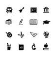 education icons black series vector image vector image