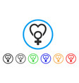 female love rounded icon vector image vector image