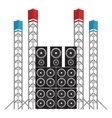 Festival and Concert Speakers plus Light Rigs vector image