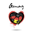 flag of germany in the form of a heart vector image vector image