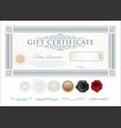 gift certificate retro vintage template 4 vector image vector image