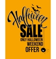 Halloween sale Happy holiday vector image vector image