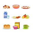Healthy breakfast food vector image