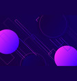 hipster landing page 3d dark violet neon colors vector image vector image