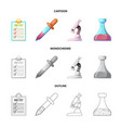 isolated object of and sign set of and ve vector image vector image