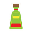isolated tequila bottle vector image vector image