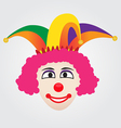 Joker Face With Jester Hat vector image