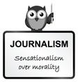 Journalism vector image