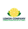 lemon logo company citrus logo vector image vector image