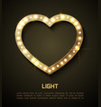 light in heart retro style banner hollywood film vector image vector image
