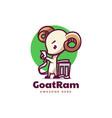 logo goat ram mascot cartoon style vector image