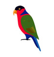 lory parrot icon in flat style vector image vector image